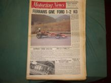 MOTORING NEWS 1970 August 20 Austrian GP, Tyrrell, Lotus 56B,US F5000,Trans Am
